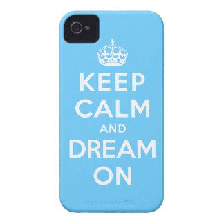 Guarde la calma y soñe encendido iPhone 4 fundas
