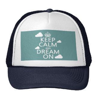 Guarde la calma y soñe encendido (las nubes) - gorras de camionero