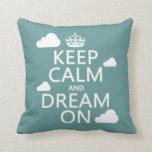 Guarde la calma y soñe encendido (las nubes) - tod almohadas