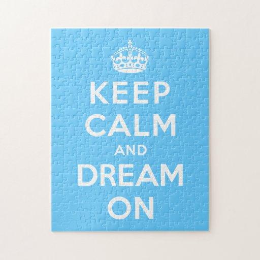 Guarde la calma y soñe encendido puzzle con fotos