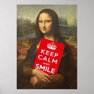 Guarde la calma y sonría poster