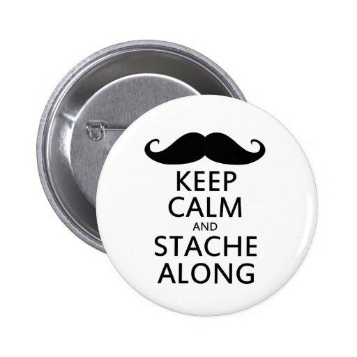 Guarde la calma y Stache a lo largo del humor del  Pins