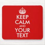 Guarde la calma y su texto
