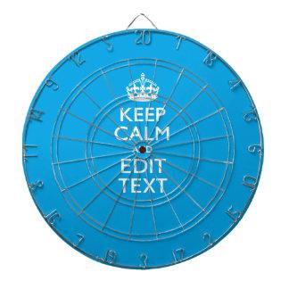 Guarde la calma y su texto en la decoración del