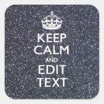 Guarde la calma y su texto en la impresión de medi