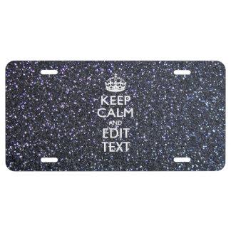 Guarde la calma y su texto en la impresión de medi placa de matrícula