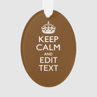 Guarde la calma y su texto en marrón