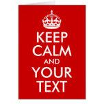 Guarde la calma y su texto felicitación