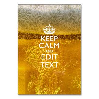 Guarde la calma y su texto para un poco de cerveza