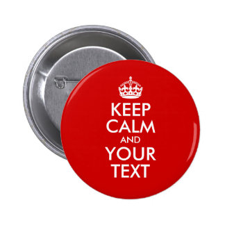 Guarde la calma y su texto pin
