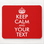 Guarde la calma y su texto tapetes de ratón