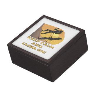 Guarde la calma y suba encendido caja de joyas de calidad