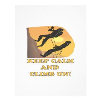 Guarde la calma y suba encendido flyer a todo color