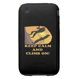 Guarde la calma y suba encendido iPhone 3 tough protectores