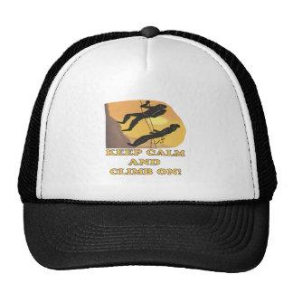 Guarde la calma y suba encendido gorra