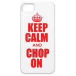 Guarde la calma y taje en el caso del iPhone 5 iPhone 5 Protectores