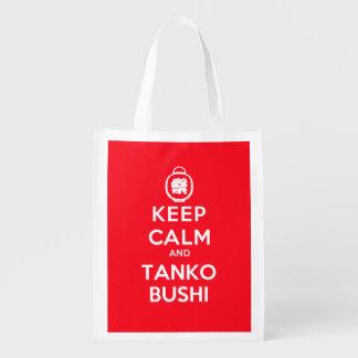 Guarde la calma y Tanko Bushi unilateral Bolsa Para La Compra