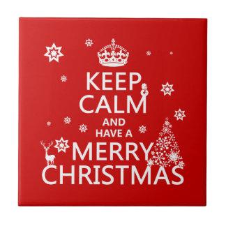 Guarde la calma y tenga Felices Navidad color del Tejas