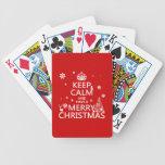 Guarde la calma y tenga Felices Navidad (color del Barajas