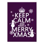 Guarde la calma y tenga feliz Navidad (el navidad) Invitaciones Personales