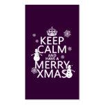 Guarde la calma y tenga feliz Navidad (el navidad) Tarjeta De Visita