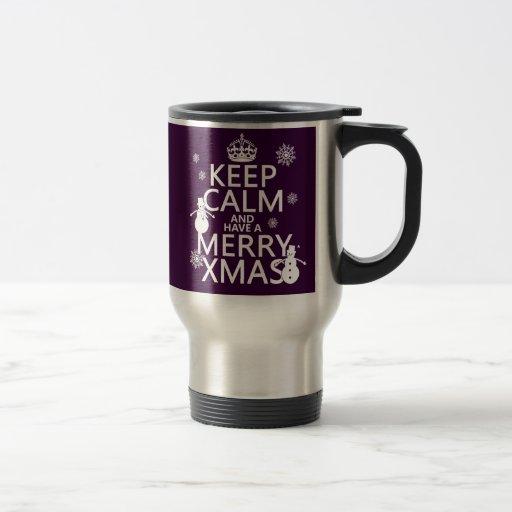 Guarde la calma y tenga feliz Navidad (el navidad) Taza De Café