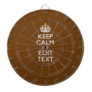 Guarde la calma y tenga su texto en Brown