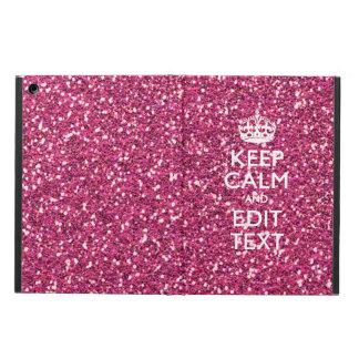 Guarde la calma y tenga su texto en color de rosa