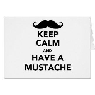 Guarde la calma y tenga un bigote felicitacion