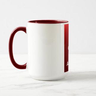 Guarde la calma y tenga un cuppa taza