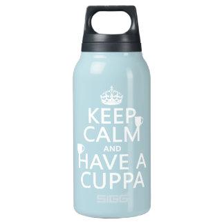 Guarde la calma y tenga un Cuppa - todos los