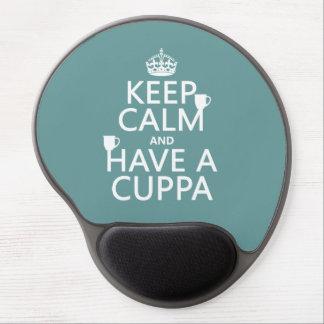 Guarde la calma y tenga un Cuppa - todos los Alfombrilla Gel