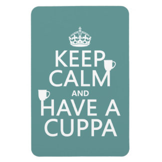 Guarde la calma y tenga un Cuppa - todos los color Imanes De Vinilo