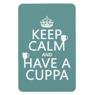Guarde la calma y tenga un Cuppa - todos los Imanes De Vinilo