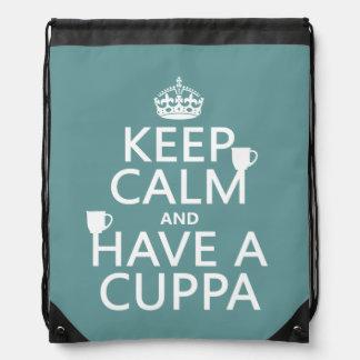 Guarde la calma y tenga un Cuppa - todos los Mochilas