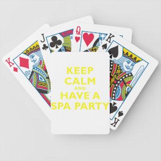 Guarde la calma y tenga un fiesta del balneario