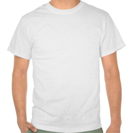 Guarde la calma y tenga una hamburguesa camisetas