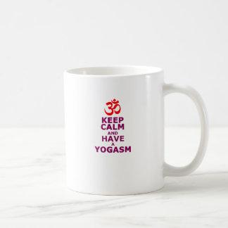 Guarde la calma y tenga una yoga SM Taza De Café