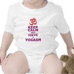 Guarde la calma y tenga una yoga SM Traje De Bebé
