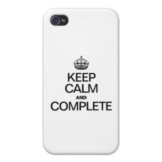 GUARDE LA CALMA Y TERMINE iPhone 4/4S CARCASA