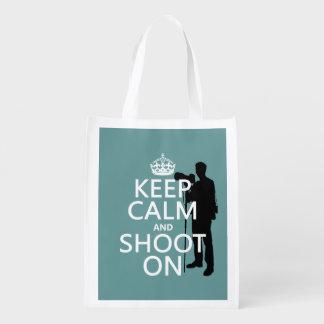 Guarde la calma y tírela en (fotos) (cualquier bolsas para la compra