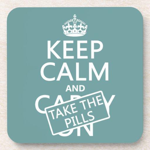 Guarde la calma y tome las píldoras (en todos los  posavasos
