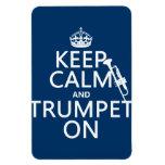 Guarde la calma y toque la trompeta en (cualquier  imán de vinilo