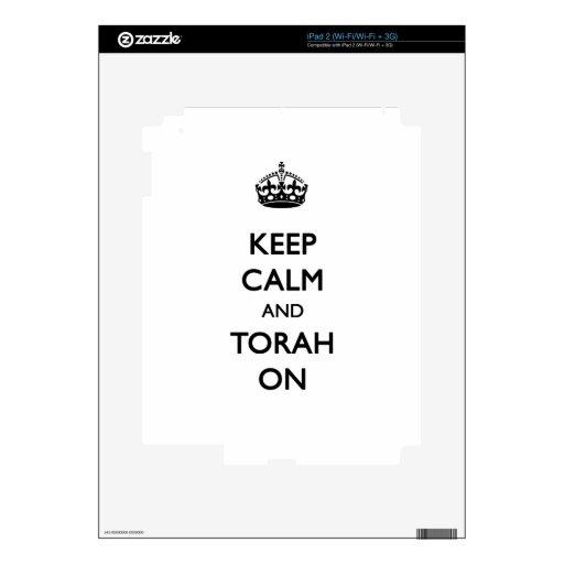 Guarde la calma y Torah encendido Skins Para eliPad 2