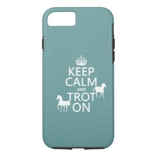 Guarde la calma y trote encendido - los caballos - funda iPhone 7