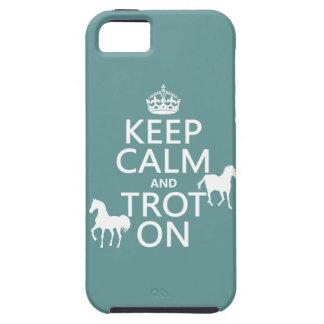 Guarde la calma y trote encendido - los caballos - funda para iPhone SE/5/5s