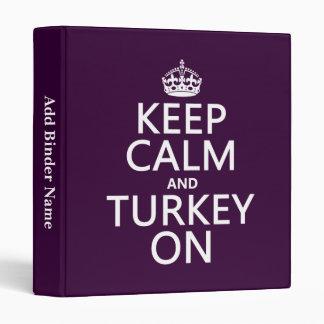 Guarde la calma y Turquía en (el navidad)