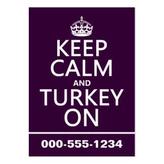 Guarde la calma y Turquía en (el navidad) Tarjetas Personales