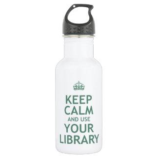 Guarde la calma y utilice su biblioteca