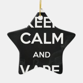 Guarde la calma y Vape encendido Adorno Navideño De Cerámica En Forma De Estrella